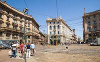 Cordusio square. Italy