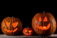 Jack o lanterns Halloween pumpkins