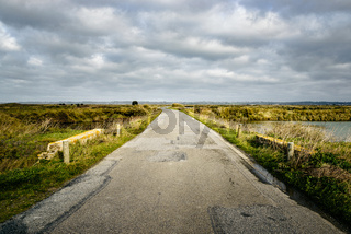 Road in rural Brittany, France