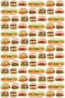 Fast Food Hintergrund Hamburger Cheeseburger Burger Fastfood essen freigestellt