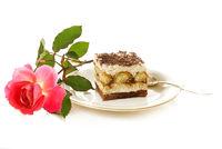 Cake and rose