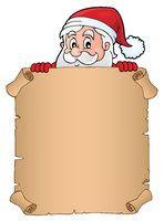 Lurking Santa Claus holding parchment 2