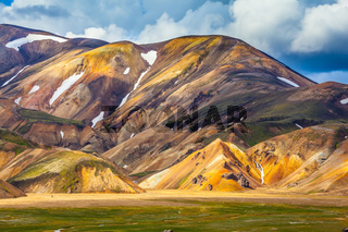 Multi-color rhyolitic mountains