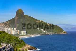 Two Brothers hill, Joa viaduct and Sao Conrado beach