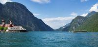 Panoramic view of Konigssee lake