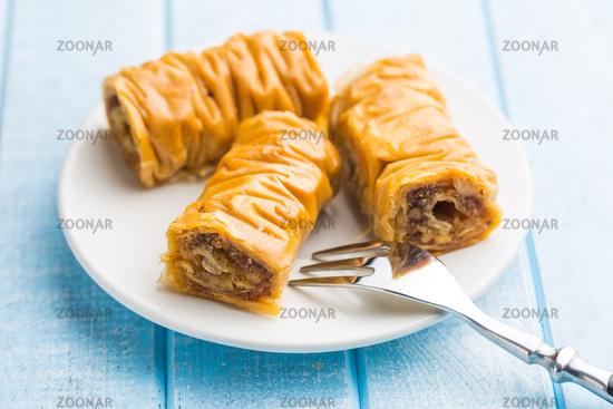 Sweet dessert baklava