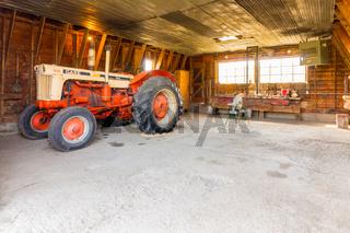 Bar u ranch national historical site ld mechanical tractor workshop
