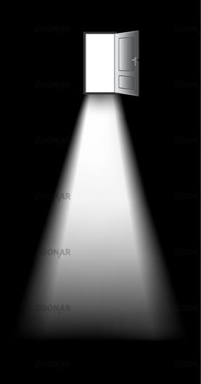Photo open door of a dark room Image 1665416