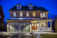 Custom built luxury house in the suburbs at Twilight. Toronto, Canada.