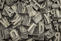 letterpress wood type blocks background