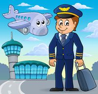Aviation theme image 1 - picture illustration.