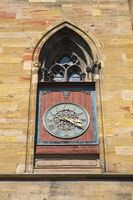 Colmar, Dial on the Collegiate Church Saint-Martin also Martinsmünster