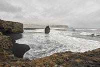 Icelandic landscape of seashore