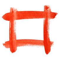 Red watercolor frame