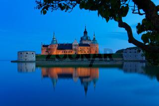 Burg Kalmar bei Nacht