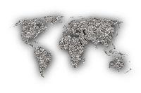 Weltkarte auf Mohn - Map of the world on poppy seeds