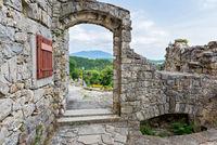 View thru the stone arch