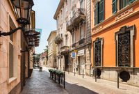 Ancient central baroque street in Turin