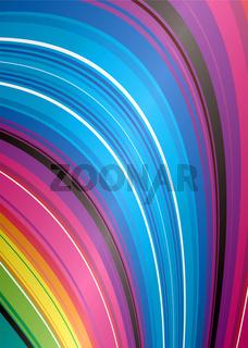 abstract rainbow falls