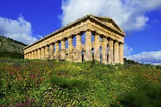 dorischer Tempel von Segesta, Sizilien, Italy