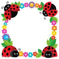 Stylized ladybugs theme image 2