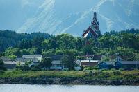 Kirche auf den Lofoten in Norwegen