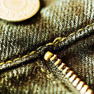 Jeans Knopf und Reißverschluß