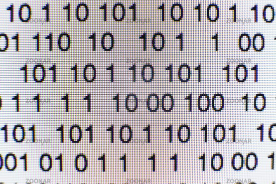 Photo Binary Code On A Computer Screen Image 10621692