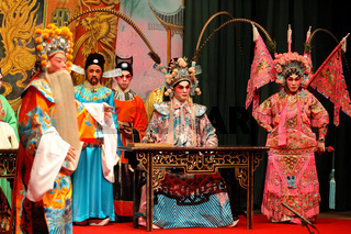 The performance of Guang Dong (Chinese) opera