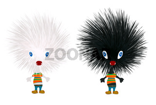 Stylized hedgehogs