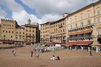 Piazza del Campo, square, Siena, Tuscany, Italy, Europe