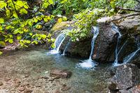 water flow of Ulu-Uzen river in Haphal Gorge