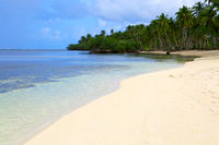 White tropical beach. Travel background.