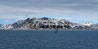 Mountain range in Svalbard islands, Norway