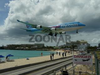 Flugverkehr in St. Maarten, Karibik