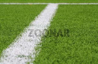 Fußballraum Strafraum Linie schräg, unscharf