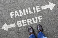 Familie Beruf Kinder Karriere Arbeit Leben Stress Überforderung Job Business Konzept