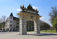 Jägertor Potsdam, obliquely