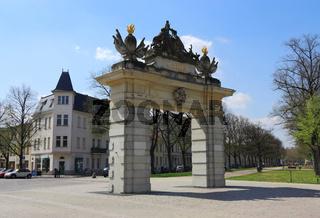 Jägertor Potsdam, schräg