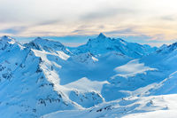 Mountains with snow peaks