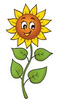 Happy sunflower theme image 1