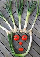Gemüse-Gesicht