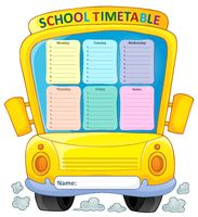 Weekly school timetable composition 4 - picture illustration.