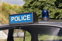 Britisches Oldtimer Polizeiauto