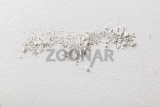 Moisture damaged white wall