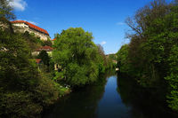 city of Tuebingen; Germany; River Neckar; castle;