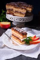 Apple cream cake