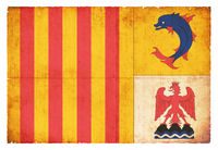 Grunge flag of Provence-Alpes-Cote d`Azur (France)