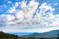 sky over Alushta city on coast of Black sea