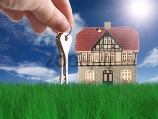 Nice house on grass